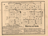 Kickapoo Village - Peoria Co., Illinois 1861 Old Town Map Custom Print - Peoria Co.