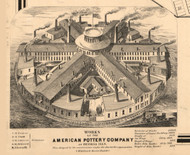 American Pottery Co Peoria - Peoria Co., Illinois 1861 Old Town Map Custom Print - Peoria Co.