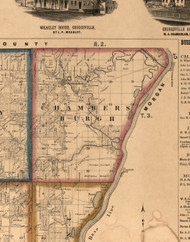 Chambersburgh, Illinois 1860 Old Town Map Custom Print - Pike Co.