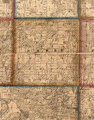 Derry, Illinois 1860 Old Town Map Custom Print - Pike Co.