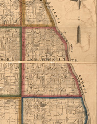 Detroit, Illinois 1860 Old Town Map Custom Print - Pike Co.