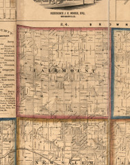 Fairmont, Illinois 1860 Old Town Map Custom Print - Pike Co.