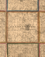 Griggsville, Illinois 1860 Old Town Map Custom Print - Pike Co.