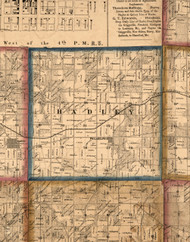 Hadley, Illinois 1860 Old Town Map Custom Print - Pike Co.