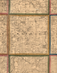 Hardin, Illinois 1860 Old Town Map Custom Print - Pike Co.