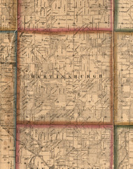Martinsburgh, Illinois 1860 Old Town Map Custom Print - Pike Co.