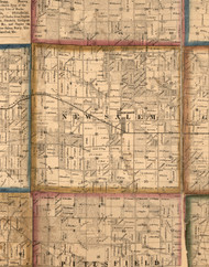 New Salem, Illinois 1860 Old Town Map Custom Print - Pike Co.