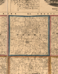 Perry, Illinois 1860 Old Town Map Custom Print - Pike Co.