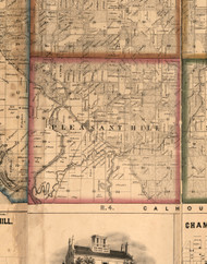 Pleasant Hill, Illinois 1860 Old Town Map Custom Print - Pike Co.