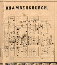 Chambersburgh Village - Pike Co., Illinois 1860 Old Town Map Custom Print - Pike Co.