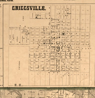 Griggsville Village - Pike Co., Illinois 1860 Old Town Map Custom Print - Pike Co.