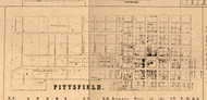 Pittsfield Village - Pike Co., Illinois 1860 Old Town Map Custom Print - Pike Co.