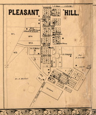 Pleasant Hill Village - Pike Co., Illinois 1860 Old Town Map Custom Print - Pike Co.