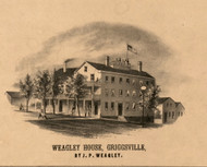 Weagley House Griggsville - Pike Co., Illinois 1860 Old Town Map Custom Print - Pike Co.