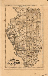 Illinois Map - Pike Co., Illinois 1860 Old Town Map Custom Print - Pike Co.