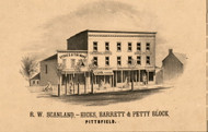 Hicks & Barret Petty Block Pittsfield - Pike Co., Illinois 1860 Old Town Map Custom Print - Pike Co.