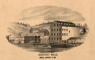 Mace Rupert Co Rockport Mills - Pike Co., Illinois 1860 Old Town Map Custom Print - Pike Co.