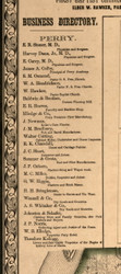Perry Business Directory - Pike Co., Illinois 1860 Old Town Map Custom Print - Pike Co.