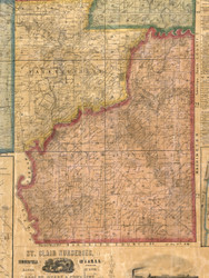 Athens, Illinois 1863 Old Town Map Custom Print - St. Clair Co.