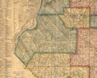Chokia, Illinois 1863 Old Town Map Custom Print - St. Clair Co.
