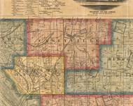 Caseyville, Illinois 1863 Old Town Map Custom Print - St. Clair Co.