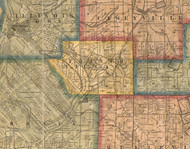 French Village, Illinois 1863 Old Town Map Custom Print - St. Clair Co.