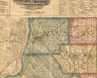 Illinois Town, Illinois 1863 Old Town Map Custom Print - St. Clair Co.