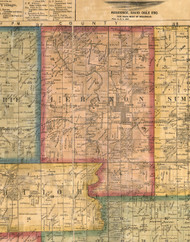 Lebanon, Illinois 1863 Old Town Map Custom Print - St. Clair Co.
