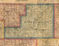 Ridge Prairie, Illinois 1863 Old Town Map Custom Print - St. Clair Co.