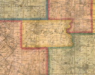 Shiloh, Illinois 1863 Old Town Map Custom Print - St. Clair Co.