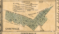 Caseyville Village - St Clair Co., Illinois 1863 Old Town Map Custom Print - St. Clair Co.