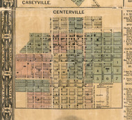 Centerville Village - St Clair Co., Illinois 1863 Old Town Map Custom Print - St. Clair Co.