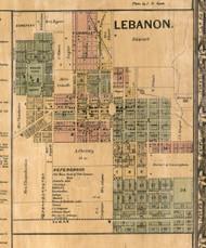 Lebanon Village - St Clair Co., Illinois 1863 Old Town Map Custom Print - St. Clair Co.