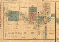 Mascouthah Village - St Clair Co., Illinois 1863 Old Town Map Custom Print - St. Clair Co.