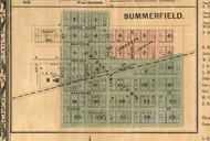 Summerfield Village - St Clair Co., Illinois 1863 Old Town Map Custom Print - St. Clair Co.
