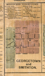 Georgetown Village Smithton Village - St Clair Co., Illinois 1863 Old Town Map Custom Print - St. Clair Co.