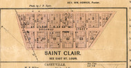 Saint Clair Village - St Clair Co., Illinois 1863 Old Town Map Custom Print - St. Clair Co.