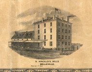 Hinkleys Bills Belleville - St Clair Co., Illinois 1863 Old Town Map Custom Print - St. Clair Co.