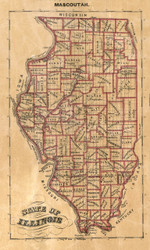 State of Illinois - St Clair Co., Illinois 1863 Old Town Map Custom Print - St. Clair Co.