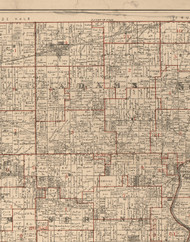 Adams, Illinois 1895 Old Town Map Custom Print - LaSalle Co.