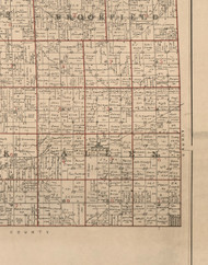 Allen, Illinois 1895 Old Town Map Custom Print - LaSalle Co.