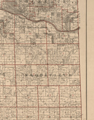 Brookfield, Illinois 1895 Old Town Map Custom Print - LaSalle Co.