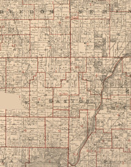 Dayton, Illinois 1895 Old Town Map Custom Print - LaSalle Co.