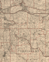 Deer Park, Illinois 1895 Old Town Map Custom Print - LaSalle Co.