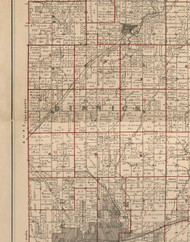 Dimmick, Illinois 1895 Old Town Map Custom Print - LaSalle Co.