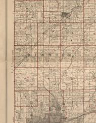 Dimmick, Illinois 1895 Old Town Map Custom Print - LaSalle Co.
