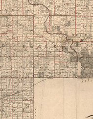 Eagle, Illinois 1895 Old Town Map Custom Print - LaSalle Co.
