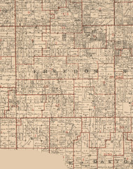 Freedom, Illinois 1895 Old Town Map Custom Print - LaSalle Co.