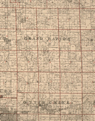Grant Rapids, Illinois 1895 Old Town Map Custom Print - LaSalle Co.