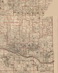 Manlius, Illinois 1895 Old Town Map Custom Print - LaSalle Co.
